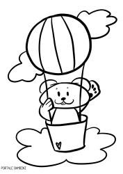 Disegni Di Mongolfiere Da Colorare Airbaloon Baloon Coloringpages Coloringinspiration Coloring Coloriage Mongolfiere Disegni Da Colorare Disegni