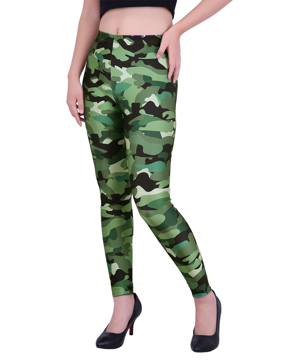 ac1ad9a4ab04f HDE Women's Leggings Graphic Print Tights Fun Digital Design Holiday  Elastic Pants (Halloween Theme,