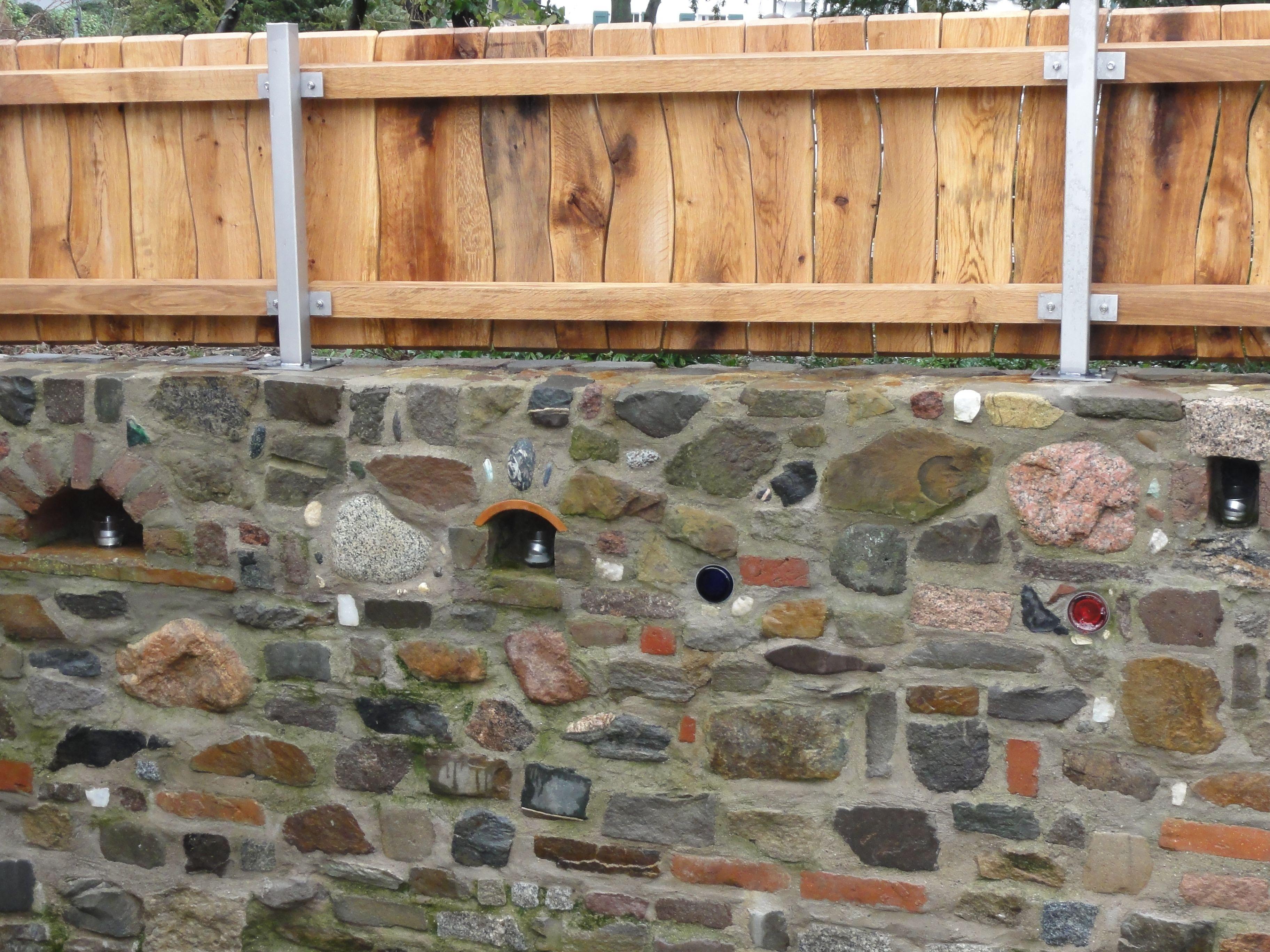 Natursteinmauer Sichtschutz Zaun Fertig