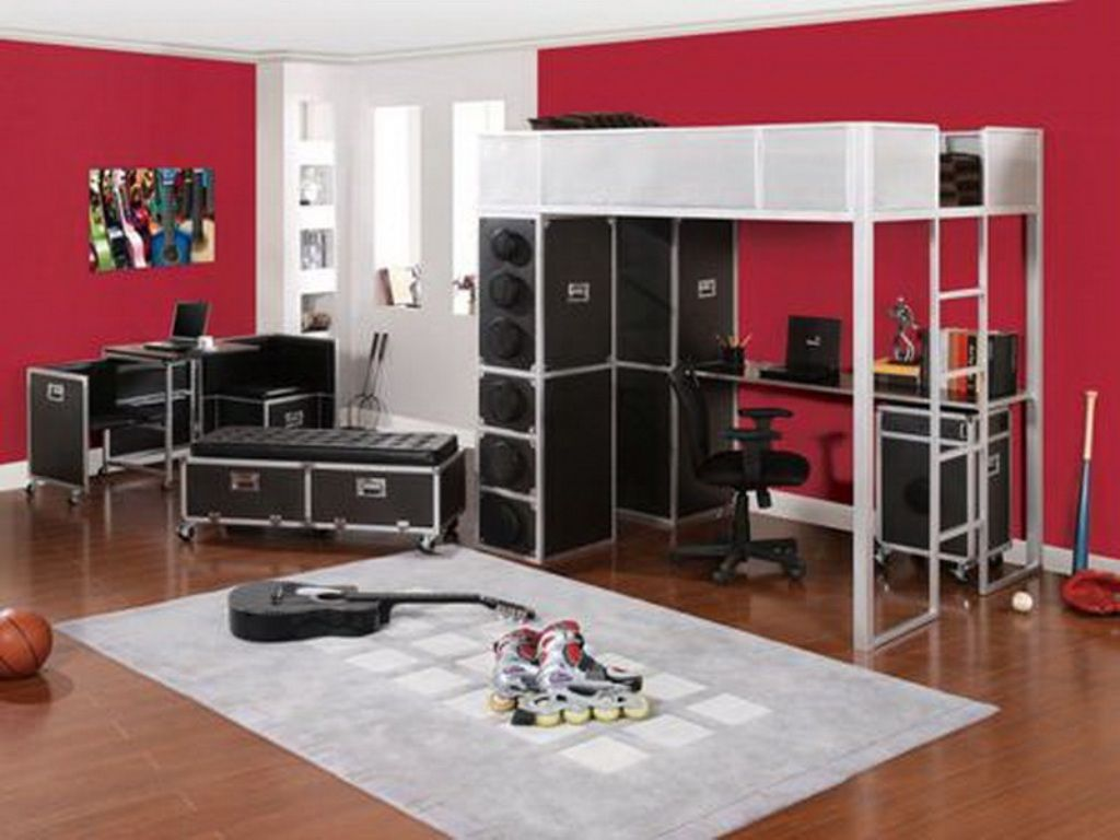 Red Black And White Living Room Decorating Cool Music Themed Bedroom Designs For Music Lover Wonderful Red