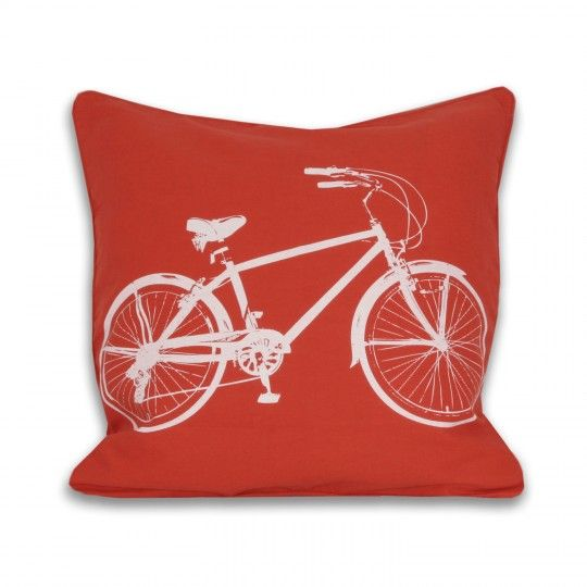 Bicycle Pillow - Tangerine Tango