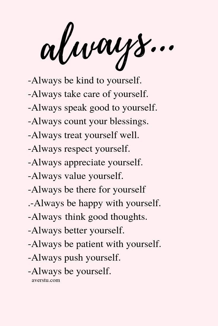 Always…