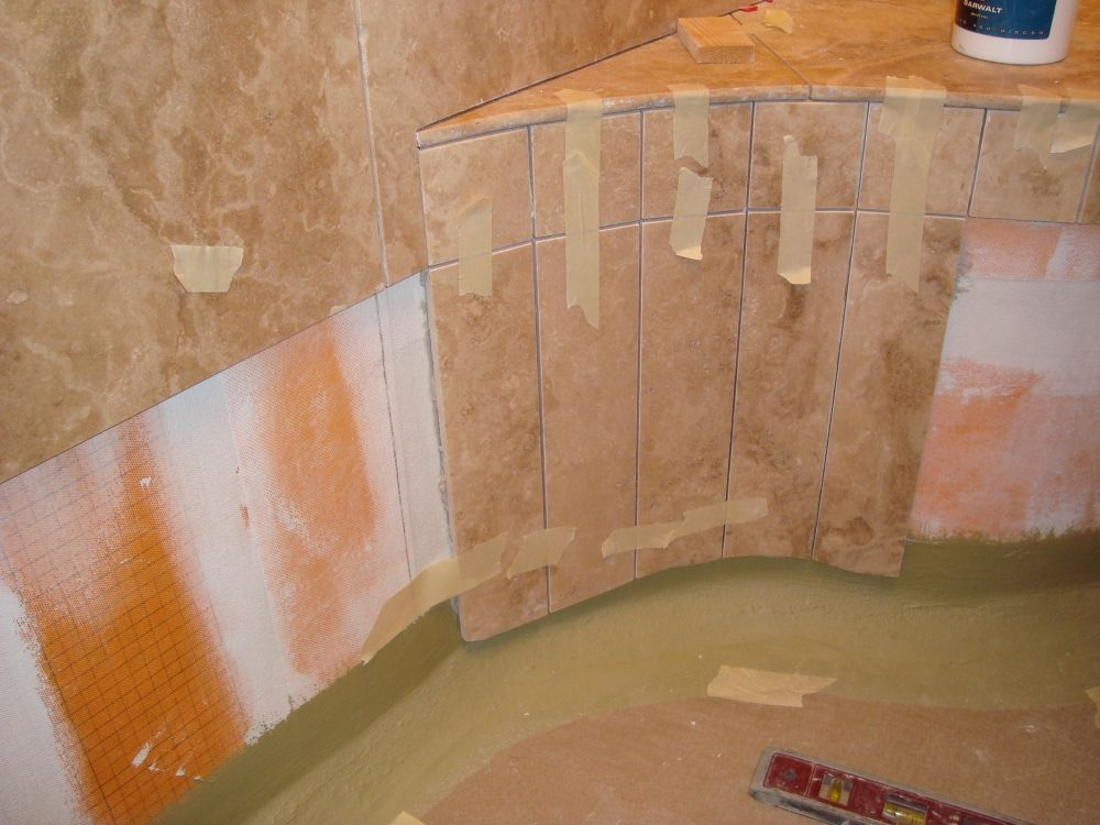 Tile Shower Stalls with Seat | Tile or Marble Shower Benches (Seats ...