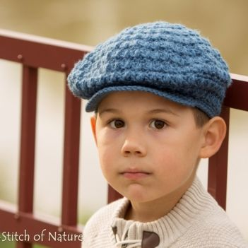 The Collins Vintage Beret/Newsboy Hat crochet pattern by Stitch of ...
