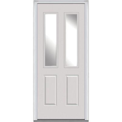 Mmi Door 32 In X 80 In Right Hand Inswing 2 Lite Clear 2 Panel