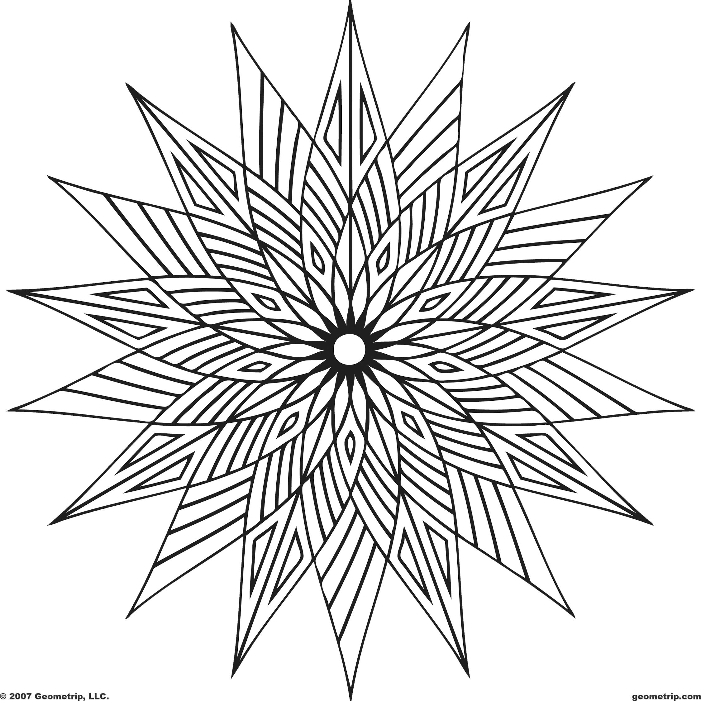 these geometric coloring pages pictures are online coloring pages that can be colored with color gradients - Cool Coloring Pages To Print For Free
