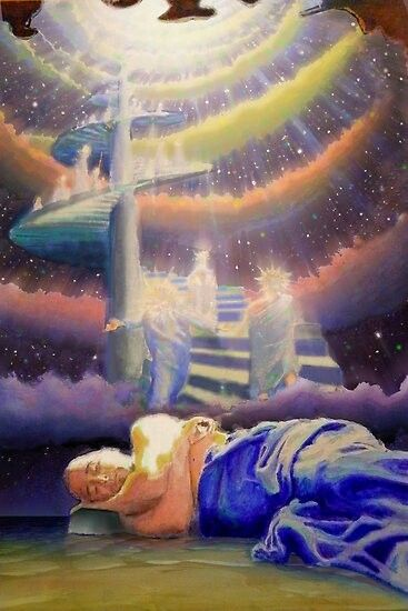 Increase in Prophetic Dreams/Spiritual Encounters  | Prophetic art, Jacob's ladder, Heaven