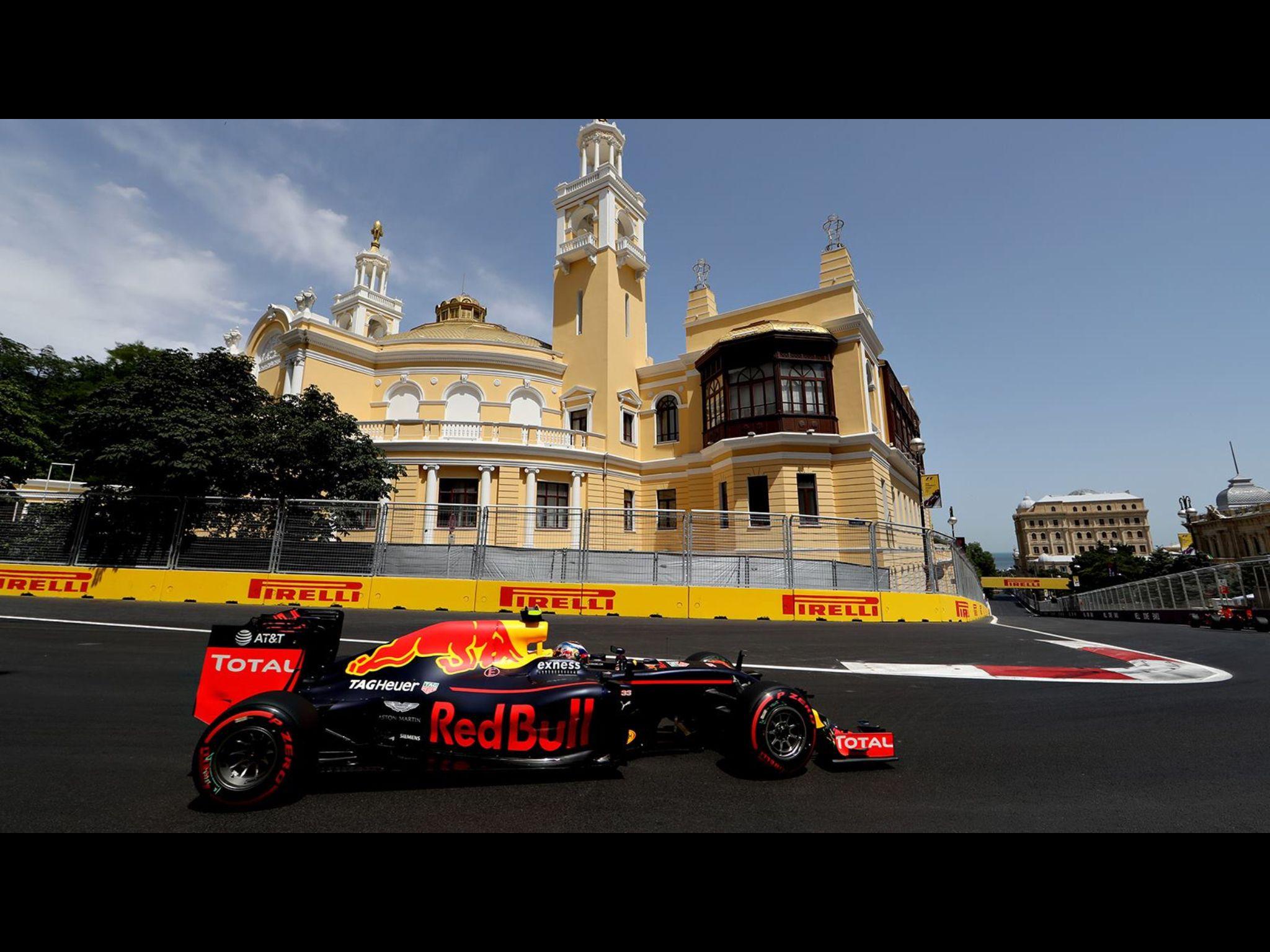 GP of Europe 2016 in Baku. Max Verstappen on track.
