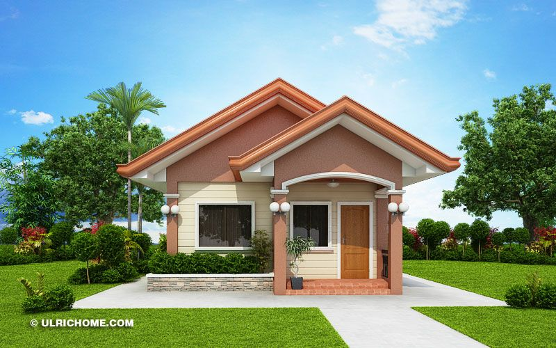 Small And Simple House Design With Two Bedrooms Simple
