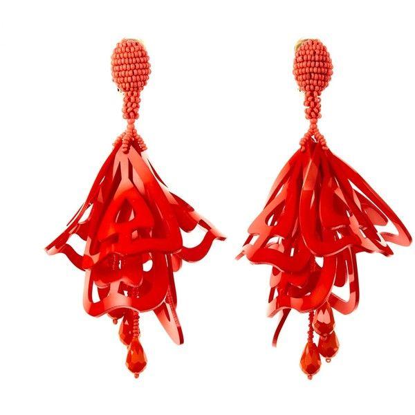 Oscar De La Renta Cayenne large clip-on earrings 8zKKK