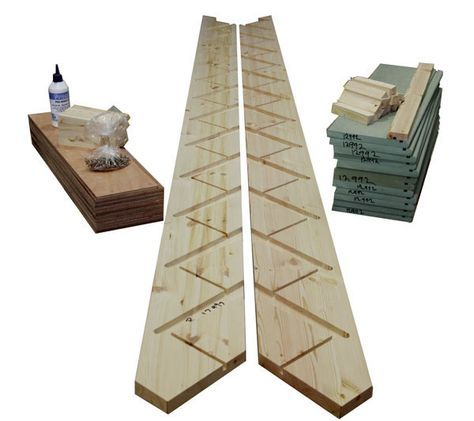 Nice Flatpack 12 Riser Straight Staircase Pine Strings MDF Treads Plywood Risers  £200+VAT And