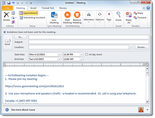 Schedule a Meeting with the Outlook Plug-in - GoToMeeting