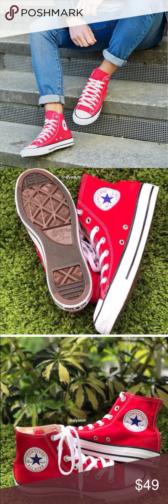 NWT Converse AdFabric AllStar Red HT M AUTHENTIC Brand new