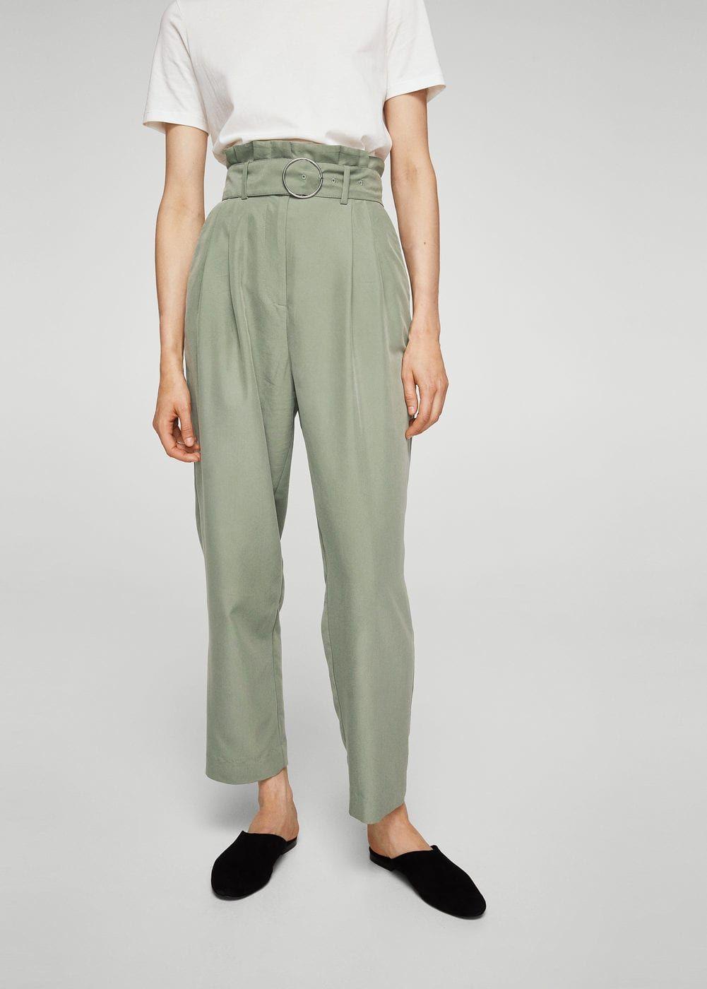 2a31956afb51 Pantalon modal anneau - Femme en 2019   Dressing S   Pantalon droit ...