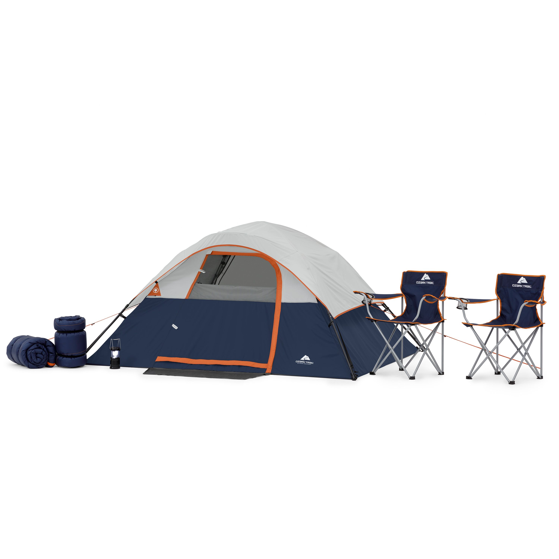 Ozark Trail 6 Piece Camping Combo Walmart Com Ozark Trail Tunnel Tent 4 Person Tent