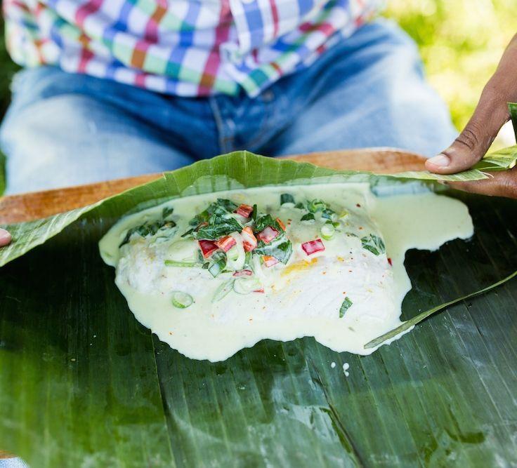 Gegrillter Kokosfisch - im Banenenblatt