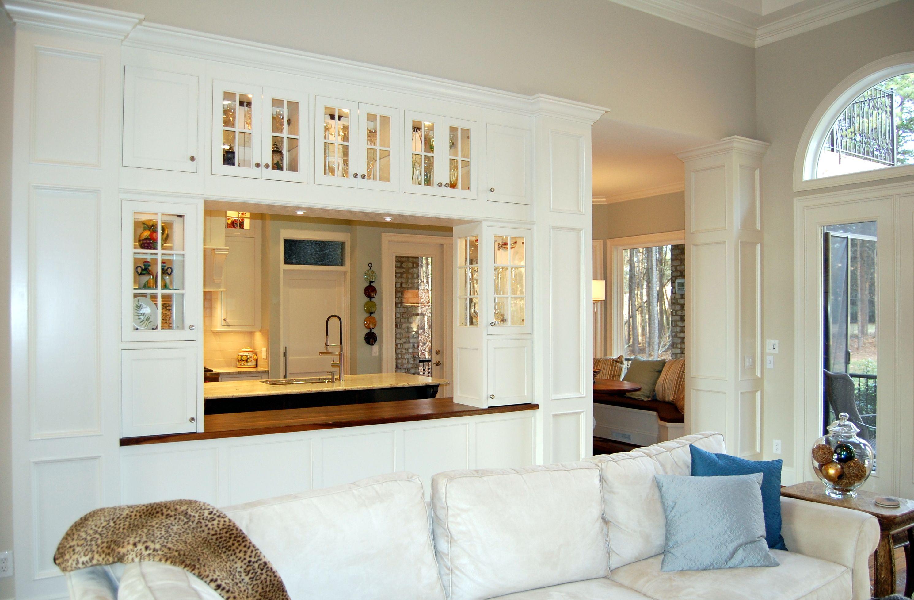 Open Divider Between Kitchen And Living Room Living Room Kitchen