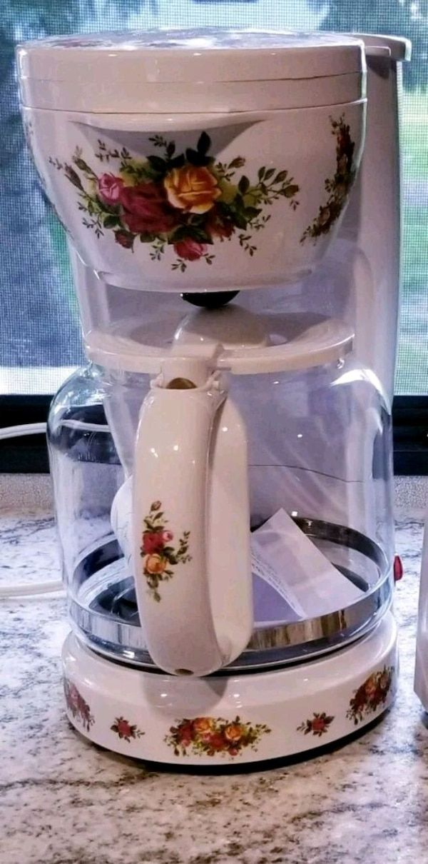 Sold Old Country Roses Coffee Maker Made By whimsicalch in