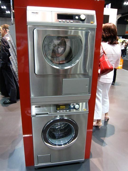 Miele Little Giant Stackable Washer and Dryer | Prefabricated home ...