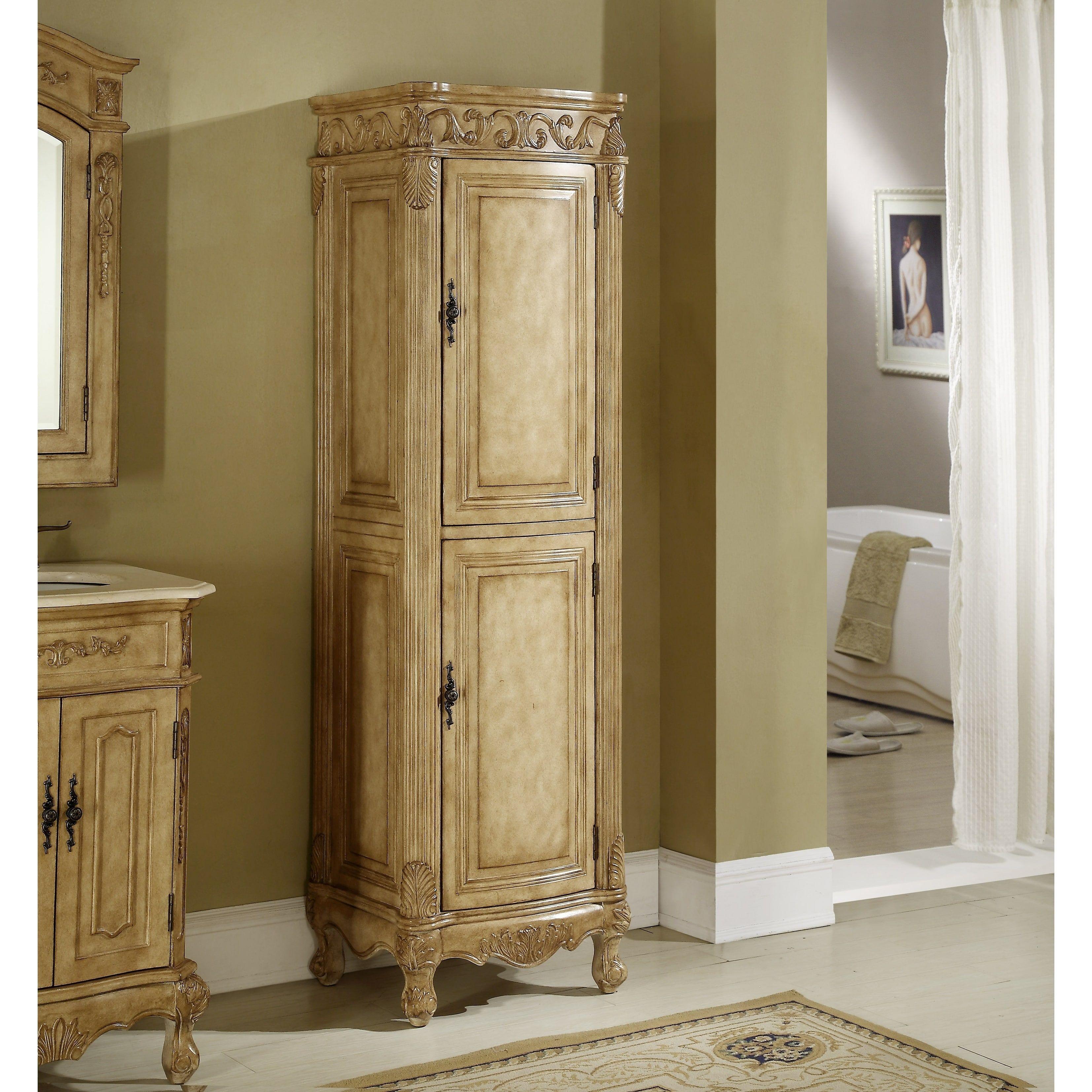 heritage roman tan birchwood cabinet size linen cabinet rh pinterest com Bathroom Linen Closet Doors Linen Closets for Bathrooms