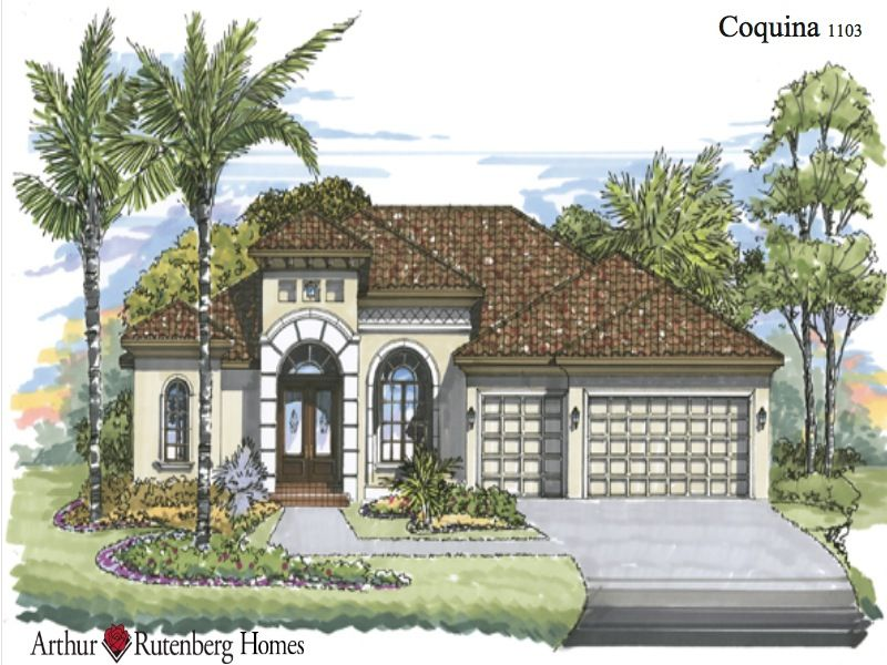 Arthur Rutenberg Homes   Coquina 1103 Plan   Mid Sized House Plans     House