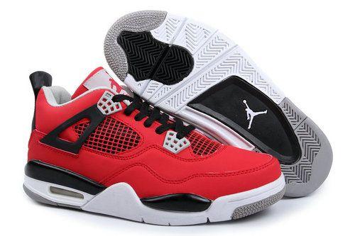 delicate colors cheap prices offer discounts Air Jordan 4 Retro Men's Shoes red black white [airjordan4mens_007 ...