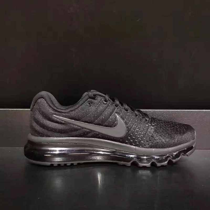 New Nike Air Max 2017 Mesh All Black USA Flag Sneakers