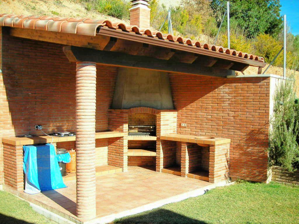 Cocina Exterior Barbacoa De Ladrillo Diseno De Barbacoa