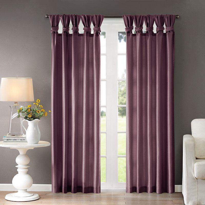 Emilia Room-Darkening Curtain DIY Twist Tab Window Panel Drapes Bedroom 1 Panel