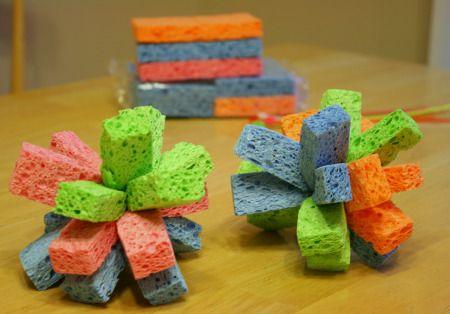 Wet Water Sponges
