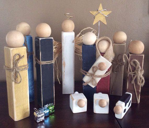 The 25 Best Wooden Nativity Sets Ideas On Pinterest