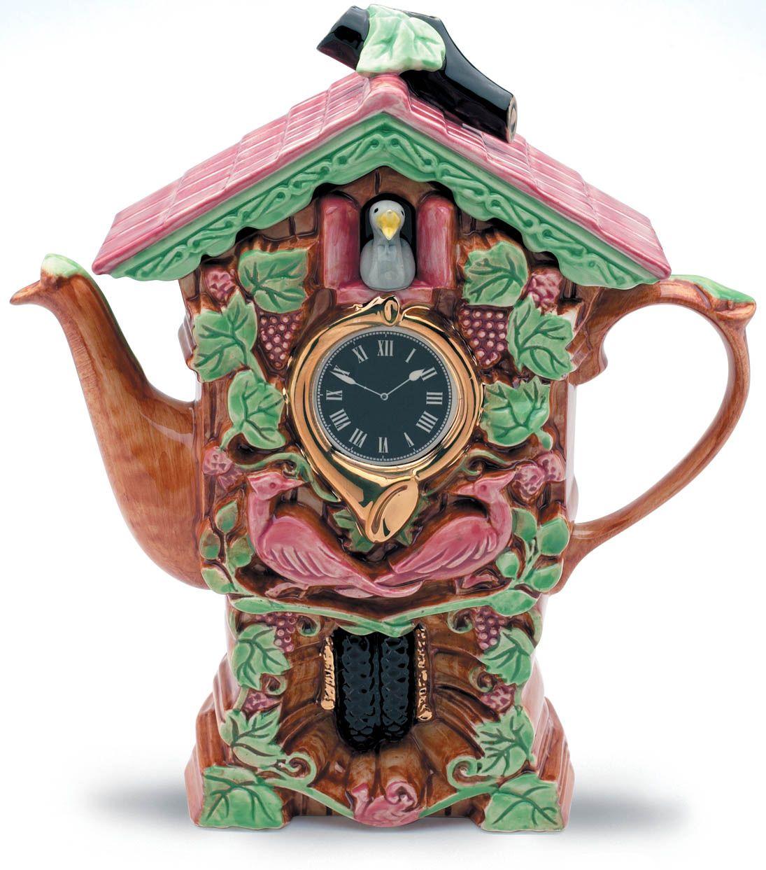 Cuckoo Cuckoo. The Cuckoo Clock Teapot. There's always time for tea.