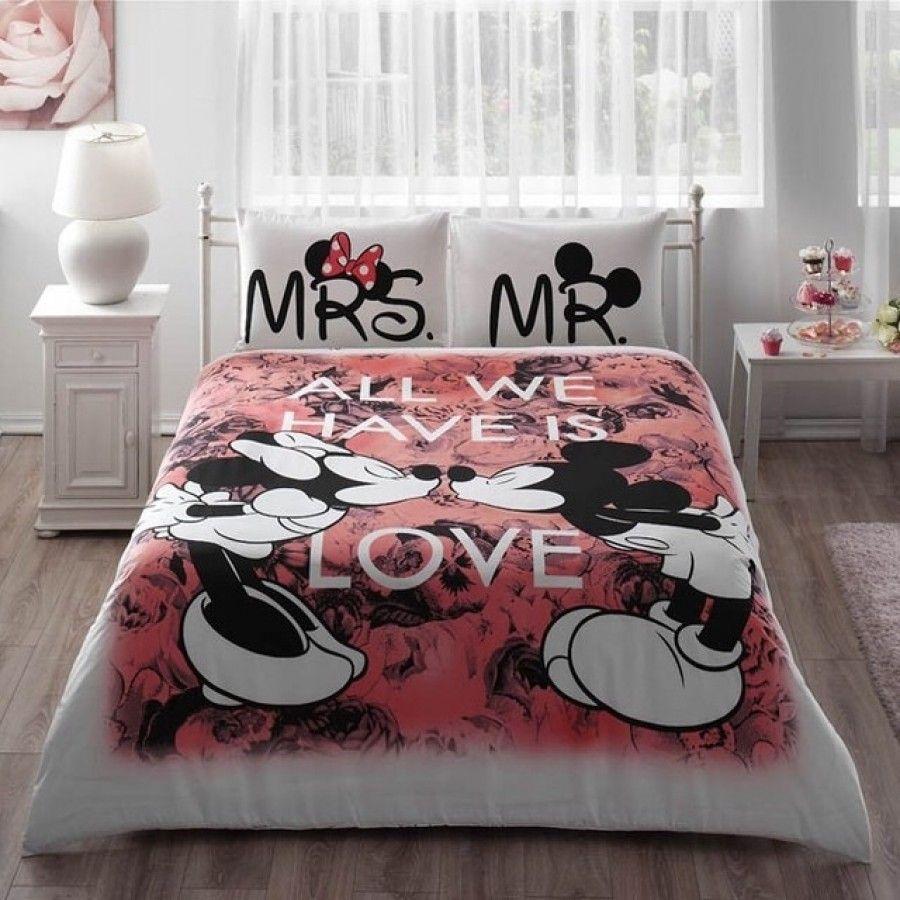 disney furniture for adults. TAÇ Disney Mickey \u0026 Minnie Beloved Çift Kişilik Nevresim Takımı Furniture For Adults K