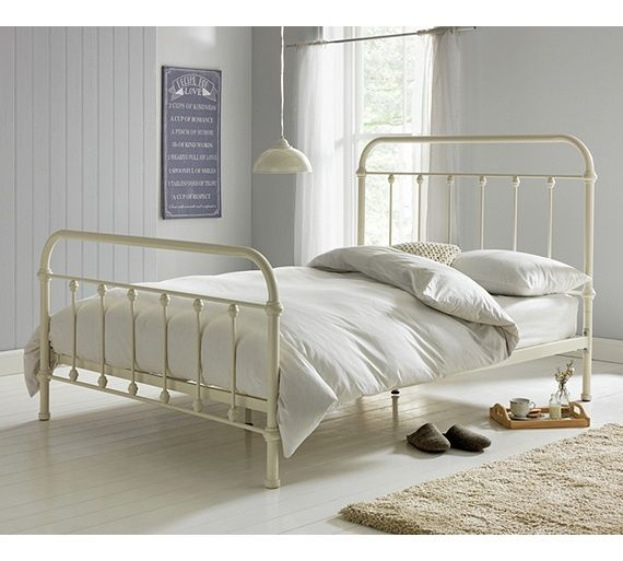 buy collection betsy kingsize bed frame - antique cream at argos