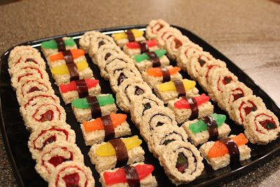 Thyme In Our Kitchen: Candy Sushi #candysushi