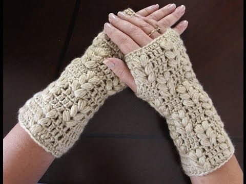Tutorial Mitones Crochet o Ganchillo Fingerless Gloves (English ...