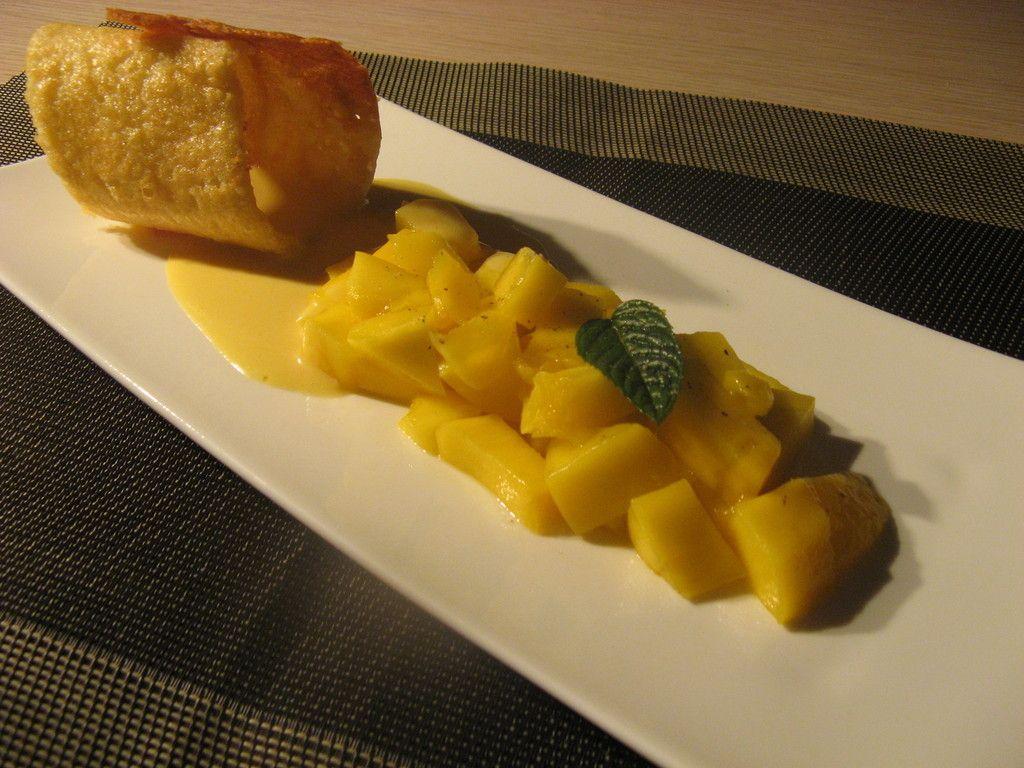 On Revisite La Tarte A La Mangue Et Son Sabbayon Tarte A La Mangue Alimentation Cuisine
