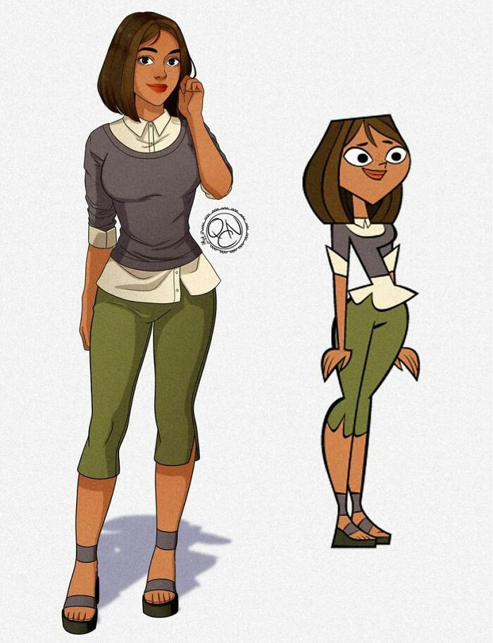 Artist Redraws 20 Total Drama Island Characters In A More Realistic Way