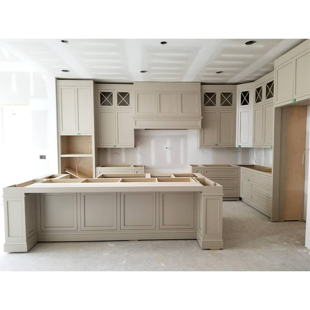 This Is The First Beige Taupe Kitchen I Ve Designed And It Definitely Will Not Be The Last Eloise Beige Kitchen Taupe Kitchen Beige Kitchen Cabinets