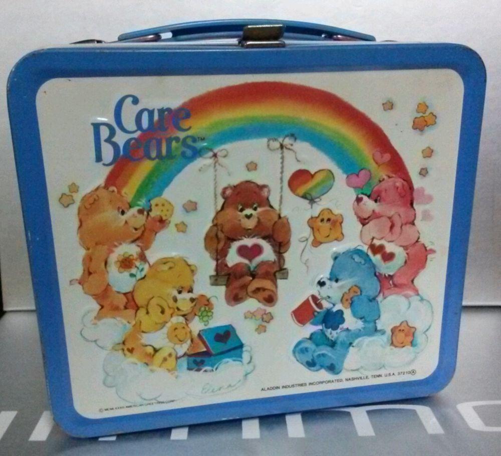 1983 1984 American Greetings Aladdin Carebears Lunchbox
