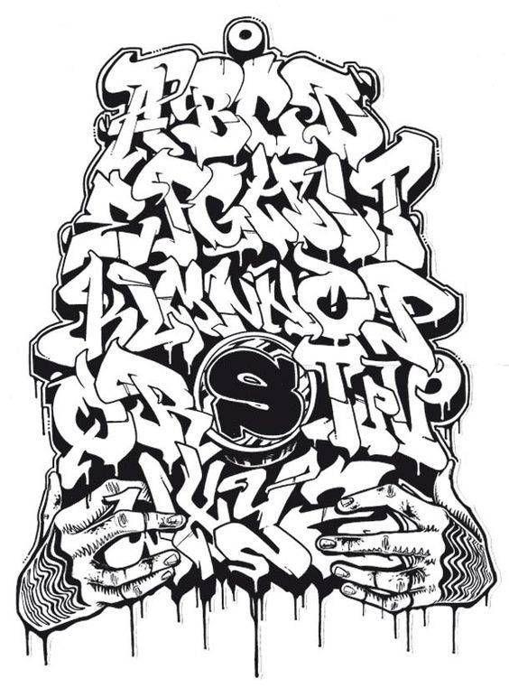dibujar abecedario o letras en graffiti 6  grafos  Pinterest