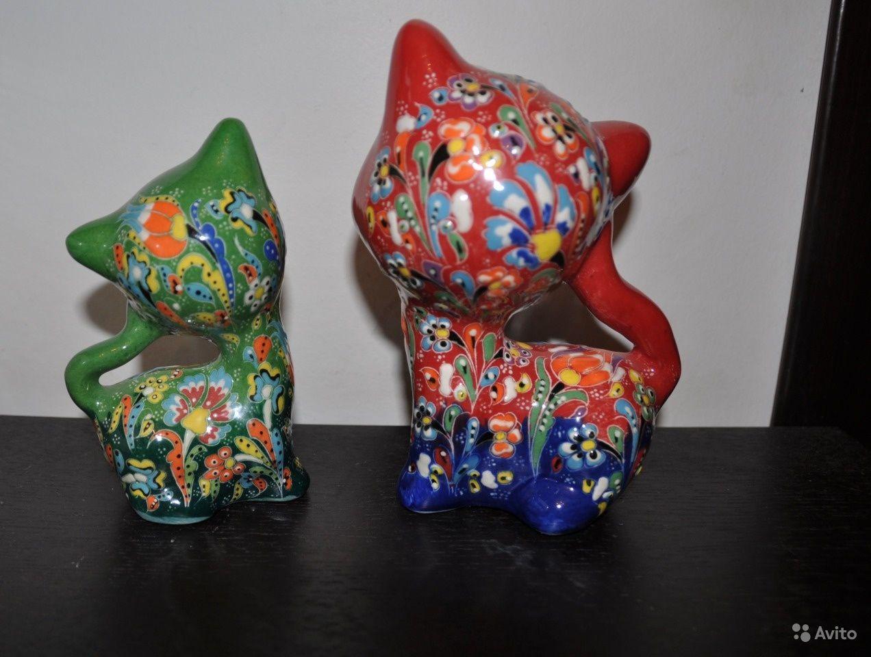Статуэтки кошек из керамики