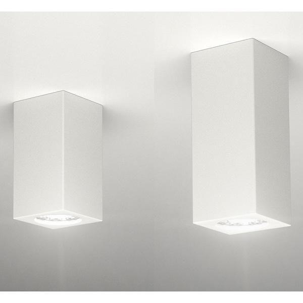 Porta Faretto In Gesso Lampada A Plafone Moderno Gu10 Plafoniera Cubo 3 Misure Art Cubo7 13 19 Faretti Plafoniera Plafoniere