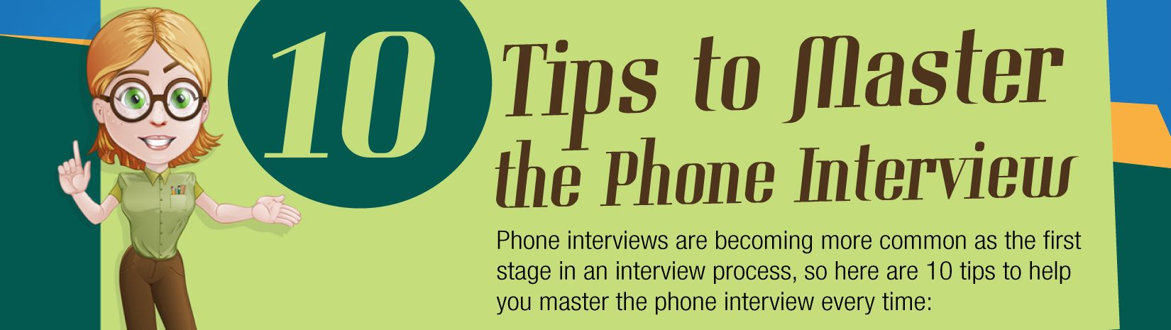 So you've got through to the interview stage - but it's a phone ...