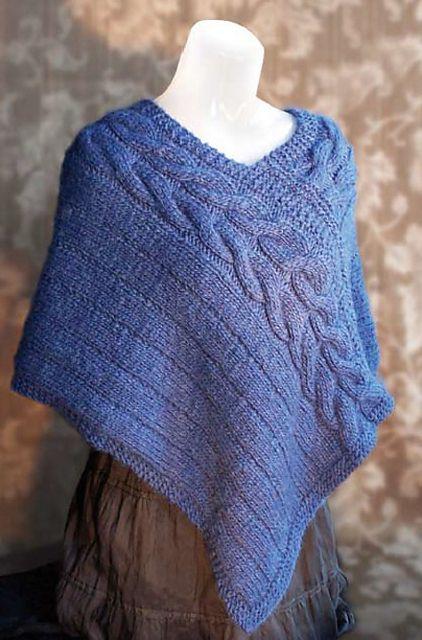 Arrowhead Poncho pattern by Pat Walker | Knitting | Poncho
