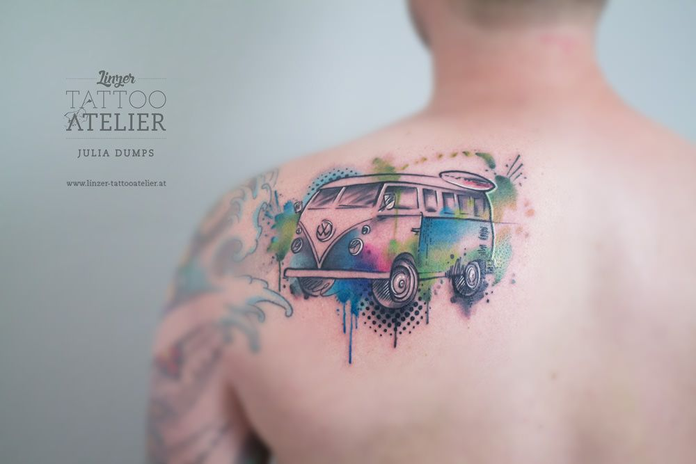 Watercolor & Aquarelltattoos von Julia Dumps - Linzer Tattooatelier ...