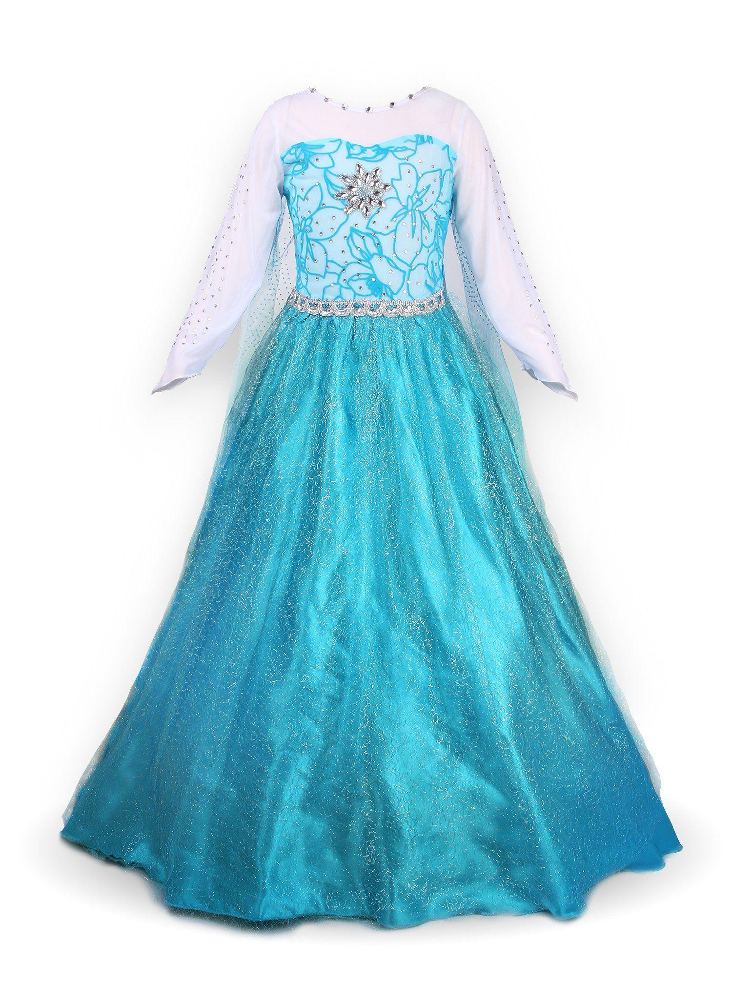 25 eur Mädchen Prinzessin Schneeflocke Süßer Ausschnitt Kleid ...