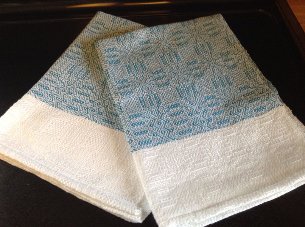 Another color overshot towel