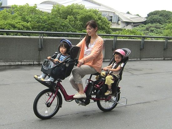 Image result for mothers and children on bikes in japan