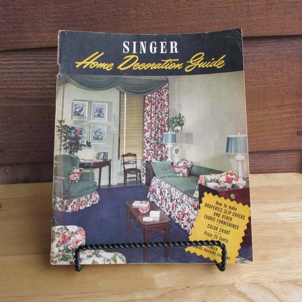 Singer Home Decoration Magazine | Vintage DIY Sewing Guide | 1940s ...